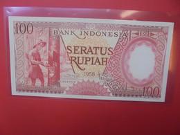 INDONESIE 100 RUPIAH 1958 Peu Circuler(B.21) - Indonesien