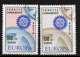 Turquie - Türkei - Turkey 1967  Y&T N°1829 à 1830 - Michel N°2044 à 2045 (o) - EUROPA - Used Stamps