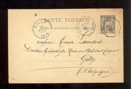 Entier  Postal Stationery - FRANCE - Type Sage -  Noir - 1895 - Repiquage Au Dos Emile Decroix Charbons Bailleul - Bijgewerkte Postkaarten  (voor 1995)