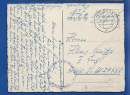 Marine Allemande      Oblitération: FELDPOST 21/5/1943 - 1939-45