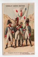 - CHROMO CHOCOLAT GUÉRIN-BOUTRON - PARIS - N° 60 : Drapeau De La 5e Demi-Brigade - Dessin VALIQUET - - Guerin Boutron
