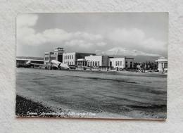 Cartolina Illustrata Catania - Aeroporto Civile - Sullo Sfondo L'Etna, Viaggiata Per Imola 1954 - Catania