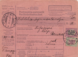 21593# FINLANDE POSTIENNAKKO OSOITEKORTTI PORI 1927 Pour RAUMA POSTFÖRSKOTTSADRESSKORT - Paketmarken