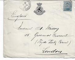 Lettre TP. 141a De Ste Adresse-Poste Belge Du 23/11/197 Vers London (Président De La Chambre Des Représentants. - Other Covers