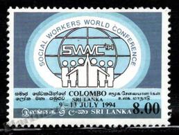 Sri Lanka 1994 Yvert 1046, Events. Social Workers World Conference. Logo - MNH - Sri Lanka (Ceylon) (1948-...)