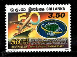 Sri Lanka 2000 Yvert 1240, Politics. 50th Anniv Department Immigration & Emigration. Plane & Ship - MNH - Sri Lanka (Ceilán) (1948-...)