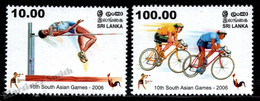 Sri Lanka 2006 Yvert 1554-55, Sports.  10th South Asian Games. Athletes - MNH - Sri Lanka (Ceylon) (1948-...)