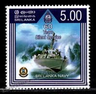 Sri Lanka 2010 Yvert 1770, Military. Ships. 60th Anniv Sri Lanka Navy - MNH - Sri Lanka (Ceilán) (1948-...)
