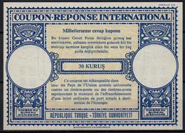 TURQUIE / TURKEY Lo16n 30 KURUS International Reply Coupon Reponse Antwortschein IRC IAS Mint ** without Postmark - Interi Postali