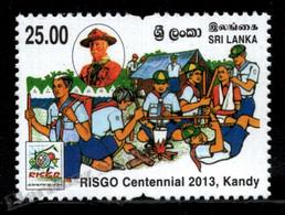 Sri Lanka 2013 Yvert 1894, Organizations. Children. Scouts. RISGO Centennial - MNH - Sri Lanka (Ceilán) (1948-...)