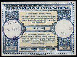 TURQUIE / TURKEY Lo17 150 KURUS International Reply Coupon Reponse Antwortschein IRC IAS O BEYOGLU 20.6.63 - Interi Postali