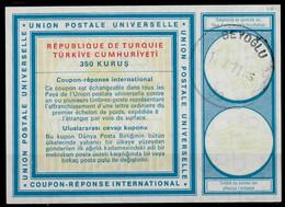 TURQUIE / TURKEY Vi20 350 KURUS International Reply Coupon Reponse Antwortschein IRC IAS O BEYOGLU 11.10.71 - Interi Postali