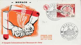 MONACO FDC 1962 CONGRES DONNEURS DE SANG - FDC