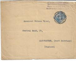 Lettre Du Gouvernement Belge  De Ste Adresse-Poste Belge TP.141a Du 5/7/1918 Vers Manchester - Other Covers