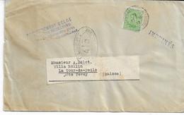 Lettre IMPRIMES Du Gouvernement Belge  De Ste Adresse-Poste Belge TP.137 Du 17/3/1917 Vers SUISSE Censure - Other Covers