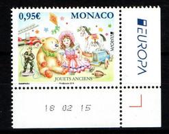 MONACO 2015 : LUXE - N° 2978 - EUROPA - NEUF ** En Coin Daté - - Nuovi