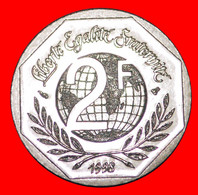 · RENE CASSIN (1887-1976): FRANCE ★ 2 FRANCS 1948 1998 UNC MINT LUSTER! LOW START ★ NO RESERVE! - G. 50 Centesimi