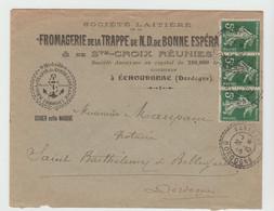 DORDOGNE: FROMAGERIE TRAPPE DE BONNE ESPERANCE à Echourgnac, / LSC De Vanxains 1915 - 1877-1920: Semi Modern Period