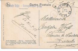CP. (Forêt D'Houthulst) 14/18 Gffe Armée Belge Corr.privée Fortune ALVERINGHEM27/9/19.. - Fortune Cancels (1919)