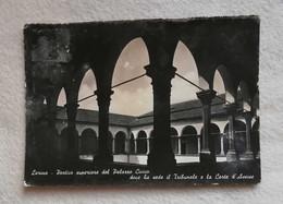 Cartolina Illustrata Larino - Portico Superiore Del Palazzo Civico, Viaggiata Per Bologna 1956 - Otras Ciudades