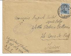 Lettre TP. 141 PMB 4 Du 30/8/1917 Vers SUISSE Censure Militaire Verso PMB 4 La Tourde Peilz - Army: Belgium