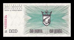 Bosnia Herzegovina 100 Dinara 1992 Pick 13 SC UNC - Bosnia And Herzegovina