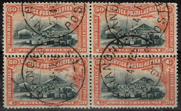 Congo Belge - 1921 - Y&T - P.A. Bloc De 4 Oblitéré Manono - Airmail: Used