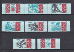 TIMBRES MONACO SERIE COMITE OLYMPIQUE INTERNATIONAL  N° 1888 A 1895 **   PM - Unused Stamps