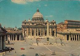 ROME- SAN PIETRO SQUARE, CATHEDRAL, COLUMN, BUSS, CAR - San Pietro