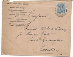 L. TP. 141a Ste ADRESSE-Poste Belge Du 19/11/17 Vers LONDON - Other Covers