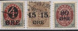 Denmark (10) 1904 , 1915 Surcharges - Ohne Zuordnung