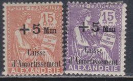 Alexandrie N° 83 / 84 X , Au Profit De La Caisse D'Aortissement La Paire Trace De Charnière Sinon TB - Non Classificati