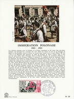 DOCUMENT FDC 1973 IMMIGRATION POLONAISE - 1970-1979