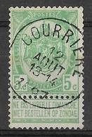 N° 56 OBLITERATION  COURRIERE - 1893-1907 Stemmi