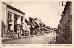 NOGENT-le-ROTROU - Rue St-Hilaire Et La Mutuelle Percheronne - Nogent Le Rotrou