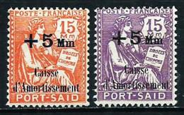 Puerto Said (Francés) Nº 86/7 Nuevo* - Unused Stamps