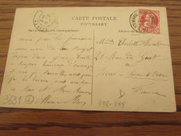 Carte Vue De Saint-Mard Oblitérée Du RELAIS De STE-MARIE-SUR-SEMOIS En 1910 (cote D) - Sterstempels