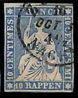 94992cC -   SWITZERLAND - STAMP - Zumstein # 23 Cb - Very Fine  USED - Gebraucht