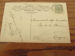 Carte Fantaisie Oblitérée Du RELAIS De MILLEN En 1908 (cote D) - Sterstempels