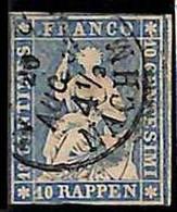 94992dA -   SWITZERLAND - STAMP - Zumstein # 23 Cc -  Fine  USED - Gebraucht