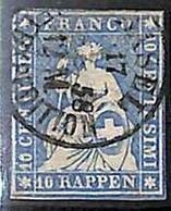 94992dG -   SWITZERLAND - STAMP - Zumstein # 23 Cc -  Fine  USED - Gebraucht