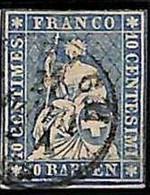 94992dJ  -   SWITZERLAND - STAMP - Zumstein # 23 Cc -  Fine  USED - Gebraucht