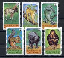 RC 18996 COTE D'IVOIRE COTE 30€ N° 516 / 521 ANIMAUX EN PÉRIL FAUNE AFRICAINE SÉRIE COMPLETE NEUF ** TB - Andere