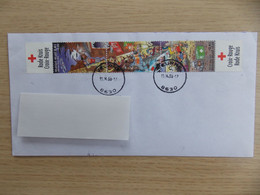 2003 België Omslag Met Complete Reeks Zegels Rode Kruis / Croix Rouge - Briefe U. Dokumente