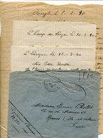 A VOIR ! LETTRES 1940 LEGION ETRANGERE OUARGLA CONSTANTINE ALGERIE FES MAROC CAMP DU LARZAC AVEYRON RECIT GUERRE WW2 - Dokumente