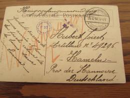 14-18: 2 Cartes Fantaisie De Prisonniers De Guerre Oblitérées VAL-ST-LAMBERT (à Pont) En 1917 Pour Hannover. Censure Du - Andere