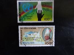 COTE D' IVOIRE   N° 727-728   OBLITERE - Ivory Coast (1960-...)