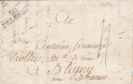 LETTRE. 13 BRUMAIRE AN 6. COTE D'OR. 20/SELONGEY. POUR BLIGNY. TAXE PLUME 4 - 1701-1800: Voorlopers XVIII
