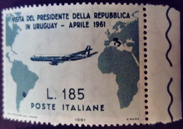 Italie Italy Italia 1961 Visite Président Gronchi Visita Presidente Avion Airplane Yvert 846 ** MNH - 1961-70: Ungebraucht