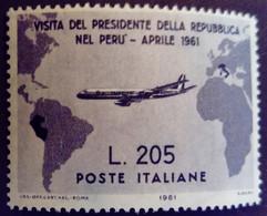 Italie Italy Italia 1961 Visite Président Gronchi Visita Presidente Avion Airplane Yvert 847 ** MNH - 1961-70: Ungebraucht